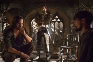 Da Vinci (Tom Riley) & Zoroaster (Gregg Chillin) interrogating Count Riario