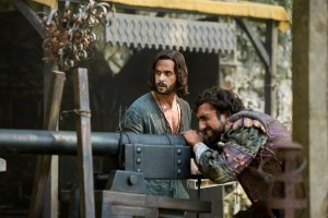 Da Vinci (Tom Riley) and Zoroaster (Gregg Chillin) in  Otranto